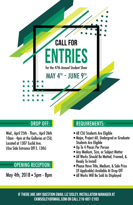 2018 Call for Entries -Galleries CSU